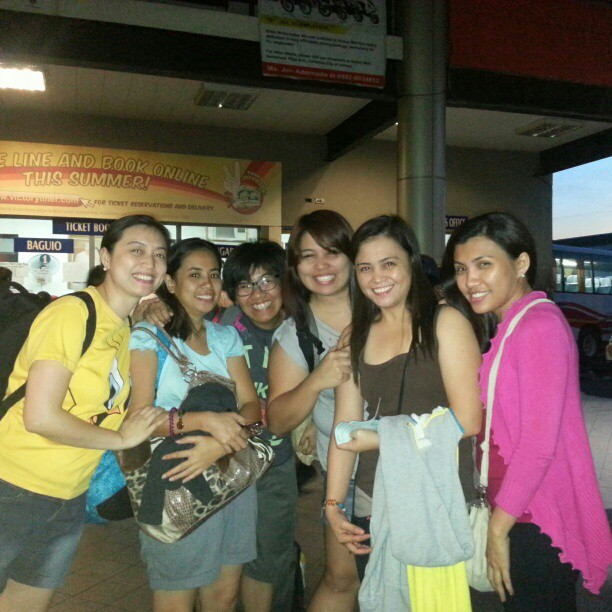 ANNUAL ADVENTURE. College buddies at the bus terminal raring to start our journey.