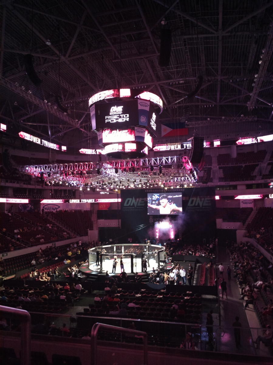RISE TO POWER. OneFC returns to Manila, this time  holding the event at the MoA Arena in Pasay City.