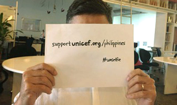 photo from http://creativity-online.com/news/bbdo-guerrero-in-the-philippines-asks-you-to-take-an-unselfie-to-help-typhoon-victims/245271