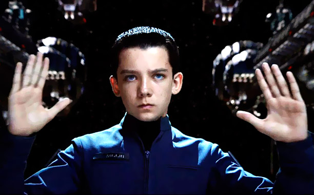 INTENSE. Asa Butterfield concentrates as he crafts a battle plan against the Formics in Command training.