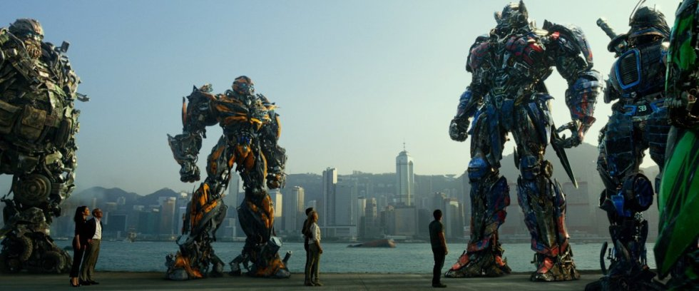 AUTOBOT RESISTANCE. Aside from the Dinobots, only five Autobots remain -- Hound, Drift, Crosshairs, Bumblebee and Prime