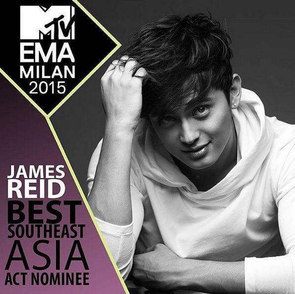 james reid MTV EMA 2015