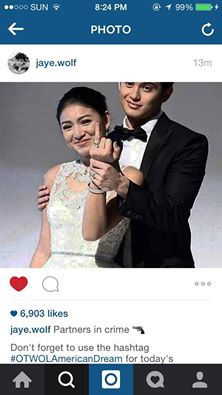 They're partners in crime (originally from James Reid's IG)